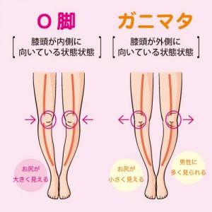 o脚と蟹股の違い