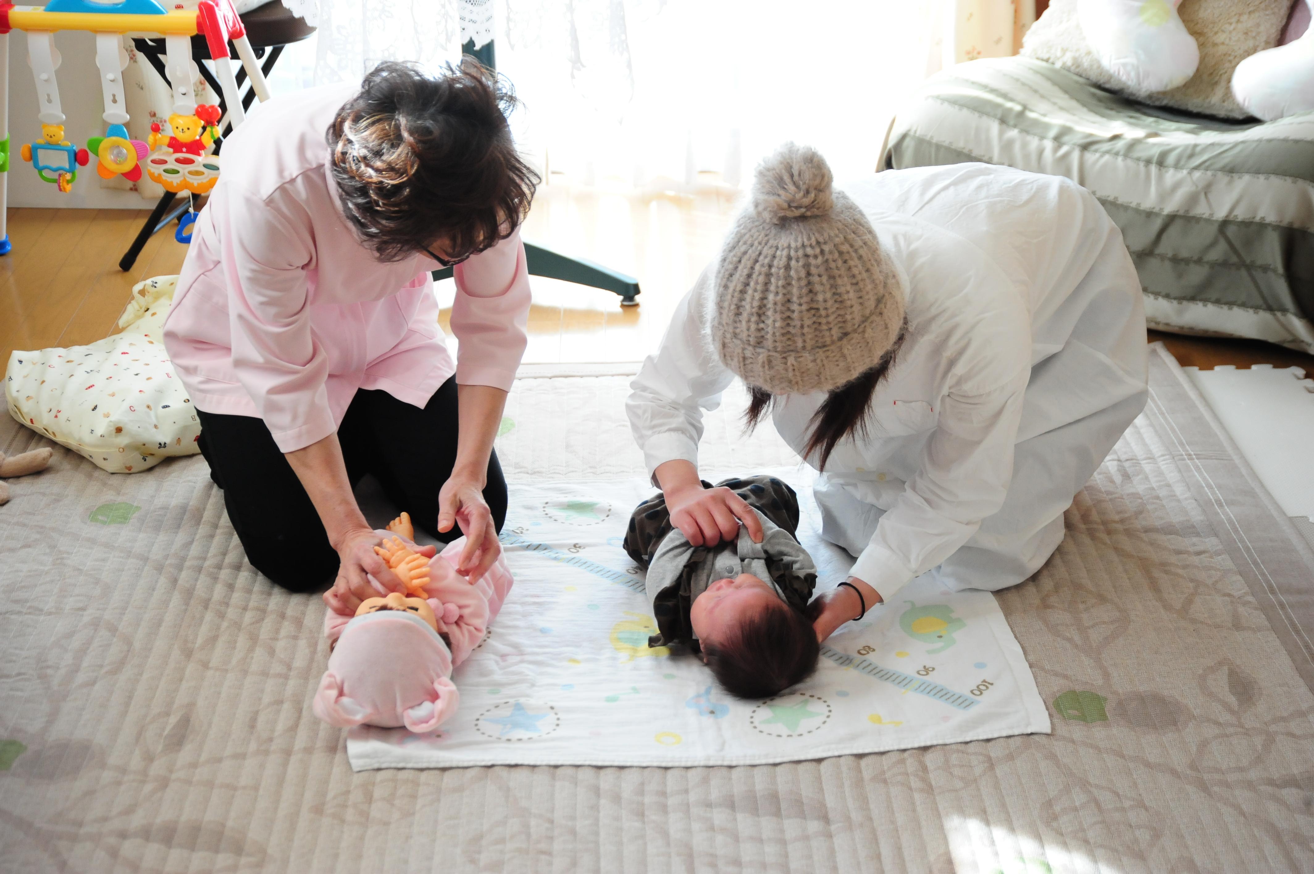 新米ママ・育児に不安がある方「定期的にベビーケア」